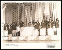 Group portrait of Buddy Johnson and his orchestra