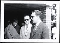 Felix Grant and unidentified man/musician at the Lorton Jazz Festival, Lorton, VA