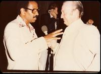 Congressman John Conyers and Felix Grant at a jazz concert at the White House on the occasion of the 25th Anniversary of the Newport Jazz Festival, Washington, D.C., June 18, 1978