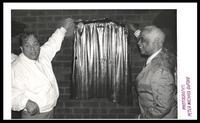 Ulysses 'Blackie' Auger and Mercer Ellington at the Dedication of Duke Ellington's birth site, Washington, D.C., 1989