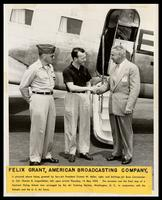Charles B. Lingamfelter, Felix Grant and Truman W. Miller at Stallings Air Force Base, Kinston, NC, 1953