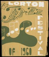 """Commemorative booklet entitled """"Lorton Jazz Festival of 1960"""" from Catholic Chaplain, Department of Corrections, The Reformatory Division Father Carl J. Breitfeller to Felix Grant, Lorton, VA, 1960"""