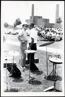 Felix Grant and unidentified man at the Lorton Jazz Festival, Lorton, VA, September 1964
