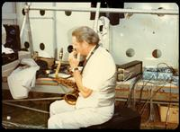 Zoot Sims at a jazz concert at the White House on the occasion of the 25th Anniversary of the Newport Jazz Festival, Washington, D.C., June 18, 1978