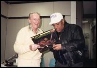 Felix Grant and Dizzy Gillespie at WDCU-FM Jazz 90, Washington, D.C., 1989