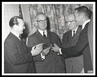 Felix Grant, Milton S. Kronheim, Harry Truman and Joseph M. Zamoski, 1963