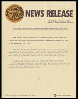 """Press release entitled """"Felix Grant to Receive Jazz Contributions Award February 18 at Blues Alley,"""" Washington, D.C., February 5, 1981"""
