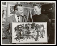 "Felix Grant and John Guthrie with painting ""Bossa Nova,"" Washington, D.C., 1963"
