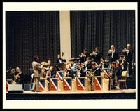 Dizzy Gillespie and the U.S. Airmen of Note at The United States Air Force Band Guest Artist Series featuring Dizzy Gillespie at D.A.R. Constitution Hall, Washington, D.C., 1983
