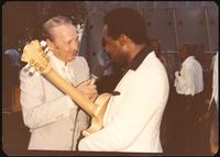 Felix Grant and George Benson at a jazz concert at the White House on the occasion of the 25th Anniversary of the Newport Jazz Festival, Washington, D.C., June 18, 1978