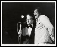 """Felix Grant and Jimmy Witherspoon at 20th Anniversary of """"The Album Sound"""" at the Kennedy Center, Washington, D.C., 1974."""