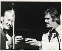 """Felix Grant and John Lyon at 20th Anniversary of """"The Album Sound"""" at the Kennedy Center, Washington, D.C., 1974"""