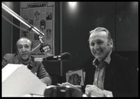 Felix Grant and Herbie Mann at WMAL AM 63 studio, Washington, D.C., 1981