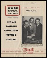 WWDC-AM 1260 Program Schedule for February 1953