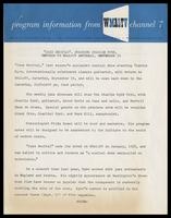 "Press release entitled ""Jazz Recital"", Starring Charlie Byrd, Returns to WMAL-TV Saturday, September 19,"" Washington, D.C."