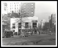 WWDC-AM radio station on the corner of Connecticut and K St. NW, Washington, D.C., 1947