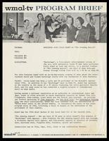 "WMAL-TV program brief entitled ""Backstage with Felix Grant on ""The Evening Report,"" Washington, D.C., December 1962"