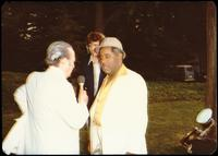 Felix Grant and Dizzy Gillespie at a jazz concert at the White House on the occasion of the 25th Anniversary of the Newport Jazz Festival, Washington, D.C., June 18, 1978