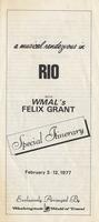 """Itinerary entitled """"A Musical Rendezvous in Rio with WMAL's Felix Grant,"""" Rio de Janeiro, Brazil, February 3-12, 1977"""