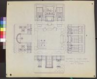 A Blueprint of Colonial Library of Mrs. Charles Baker of Boston, Mass.