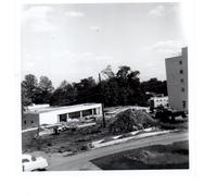 Construction area in front of Student Center