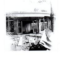 Construction of the entrance to Gerard Hall