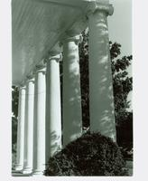 Behind the columns of the Main House - 1988