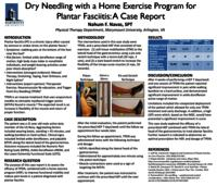 Dry Needling with a Home Exercise Program for Plantar Fasciitis: A Case Report