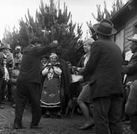 Peace Corps Volunteer Barbara Honer dances with Mapuche villagers, Chile